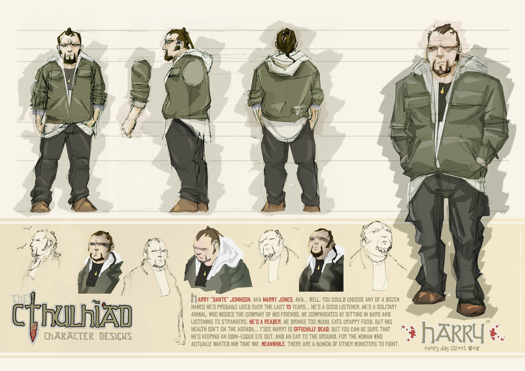 Character Design Graphic Novels : The cthulhiad online comic character sheets pt