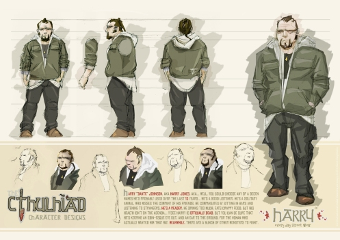Cthulhiad Character Sheet 003 - Harry small
