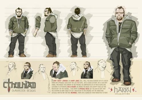 Cthulhiad Character Sheet 003 - Harry small