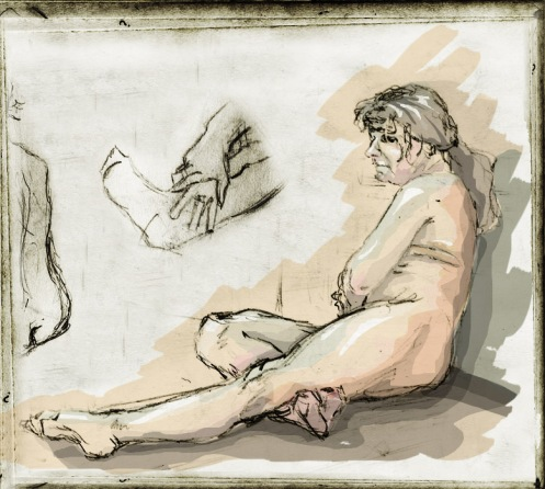 Life drawing coloured
