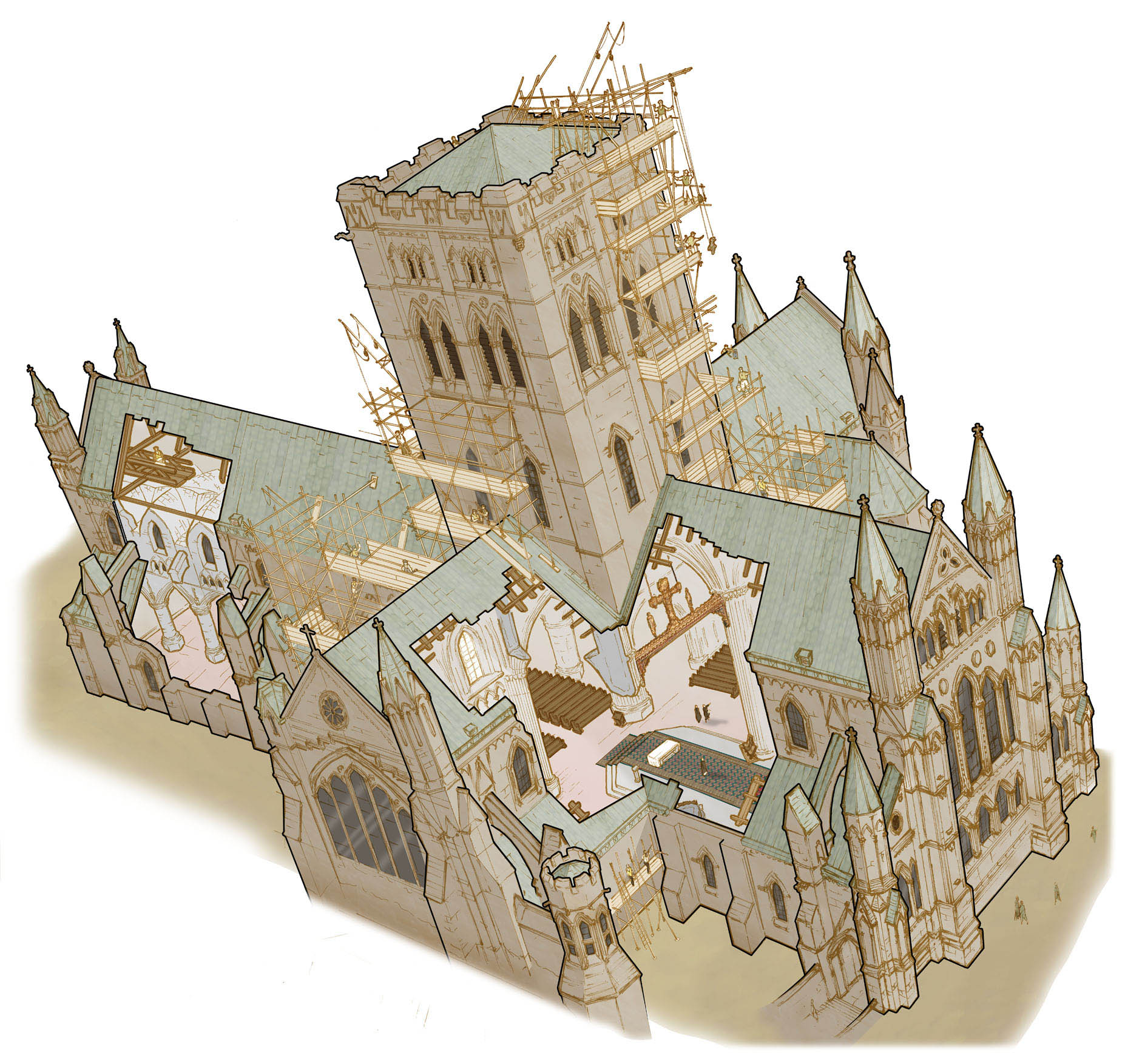 Canterbury Cathedral Floor Plan Drawing Amp Traditional Rendering Back To Basics Work