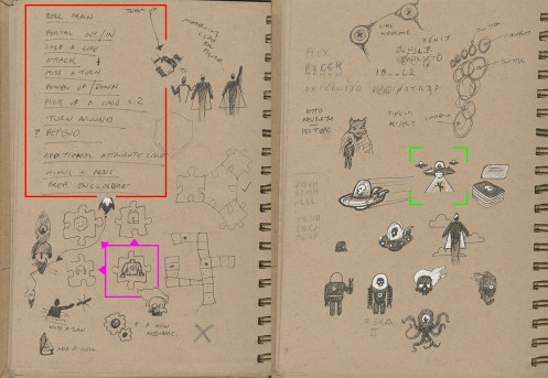 Sketches and Initial Ideas