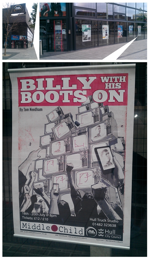 Billy With HIs Boots On Poster