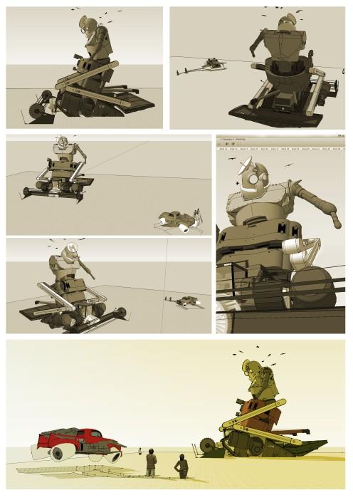 Harvester Robot Scene 001