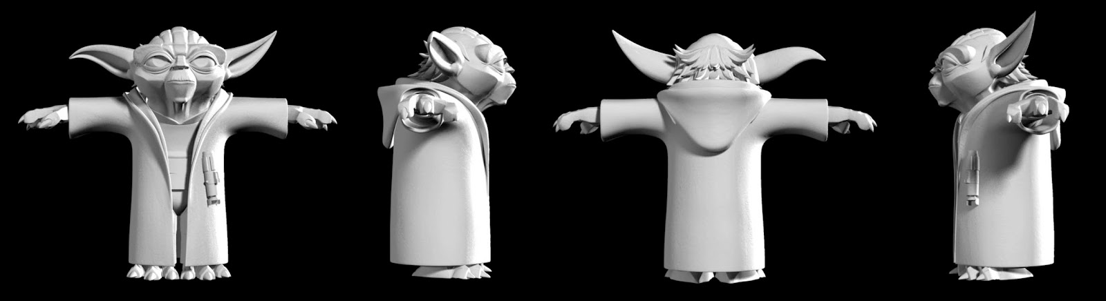 Yoda Character Design : Character design for entertainment media inc