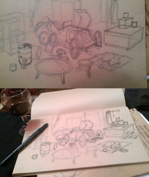 x pencils of car