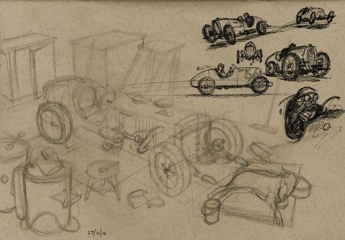 x Racer in Pencil