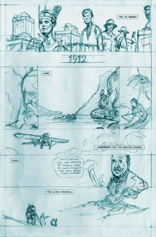 Pencil Layouts for Corsair Comic - Page 01