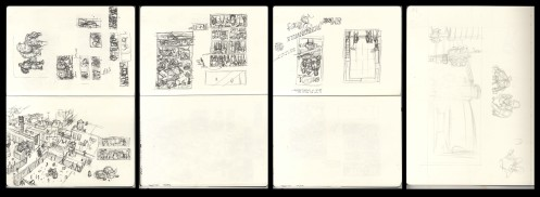 Scans as taken from Sketchbooks